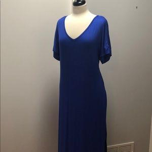 Dresses & Skirts - NWT Blue Cotton Jersey Knit Maxi Dress; never worn